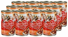 Корм для собак Darling курица, индейка 1.2 кг