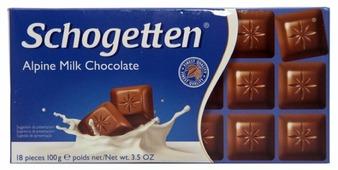 Шоколад Schogetten Alpine Milk альпийский молочный порционный