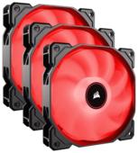 Система охлаждения для корпуса Corsair Air Series AF120 LED (2018) Red Triple Pack