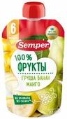 Пюре Semper груша, банан, манго (с 6 месяцев) 110 г, 1 шт.