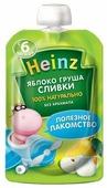 Пюре Heinz яблоко, груша, сливки (с 6 месяцев) 90 г, 1 шт