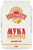 Мука Аладушкин пшеничная хлебопекарная высший сорт