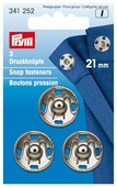 Prym Кнопки пришивные (341172, 341252, 341812), 21 мм, 3 шт.