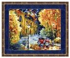 Золотое Руно Набор для вышивания Осенний марафон (Л. Афремов) 28,5 х 34,5 см (ГМ-012)