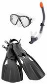 Набор для плавания с ластами Intex Reef Rider размер 8-11