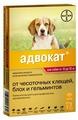 Адвокат (Bayer) Капли от чесоточных клещей, блох и гельминтов для собак от 10 до 25 кг