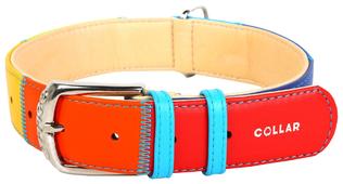 Ошейник для собак COLLAR Glamour Радуга 35 мм 46-60 см (3922-1)