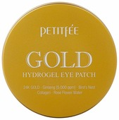 Petitfee Гидрогелевые патчи для век с содержанием частиц 24-каратного золота Gold hydrogel eye patch
