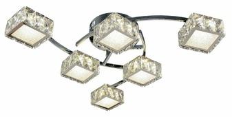 Люстра Максисвет Геометрия 1-1696-6-CR Y LED