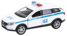 Легковой автомобиль Welly Lada Vesta SW CROSS полицейская (43763PB) 1:34