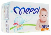 Mepsi подгузники Soft&breathing NB (0-6 кг) 30 шт.