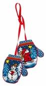 PANNA Набор для вышивания Новогоднее украшение Варежки 9 х 10 см (ИГ-1529)