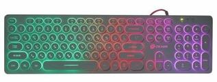Клавиатура Oklick 420MRL slim Multimedia LED Black USB