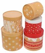 """Набор подарочных коробок Дарите счастье """"Чудесные снежинки"""" 5 шт."""