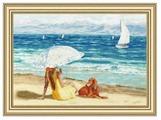 Золотое Руно Набор для вышивания Лазурный берег 29,4 х 45 см (ЧМ-070)