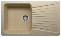 Врезная кухонная мойка Polygran F-12 85х50см искусственный мрамор