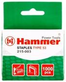 Скобы Hammerflex 215-003 тип 53 для степлера, 14 мм