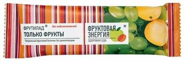 Фруктовый батончик Фруктовая Энергия Фрутилад только фрукты, без сахара, 30 г