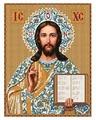 Канва для вышивания с рисунком NOVA SLOBODA Господь Иисус Христос БИС-1207 26 х 34 см