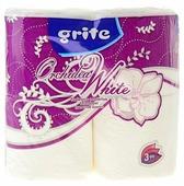 Туалетная бумага Grite Orchidea White белая трехслойная