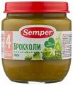 Пюре Semper брокколи (с 4 месяцев) 125 г, 1 шт