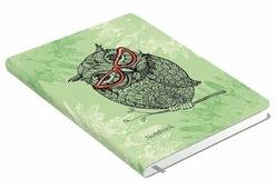 Ежедневник Канц-Эксмо Всюду совы. Дизайн 3 полудатированный, искусственная кожа, А6, 128 листов