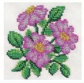Klart Набор для вышивания бисером Душистый шиповник 12 х 12 см (8-128)