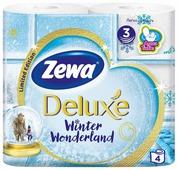 Туалетная бумага Zewa Deluxe белая трёхслойная