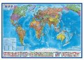 Globen Интерактивная карта Мир Политический 1:32 в тубусе (КН040)