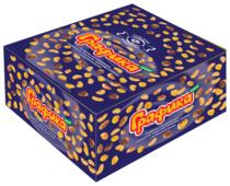 Батончик Невский Кондитер Графика maxi с карамелью, арахисом, хлопьями, изюмом и воздушным рисом, 45 г, коробка