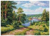 Алиса Набор для вышивания крестиком Над рекой 40 х 30 см (3-13)