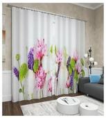 Фотошторы Сирень Цветочное решение (ФШГБ001-13522) на ленте 260 см