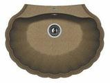 Врезная кухонная мойка FLORENTINA Гребешок 69.5х52.5см искусственный гранит
