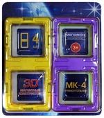 Магнитный конструктор Магникон Набор элементов МК-4-ПР Прямоугольник