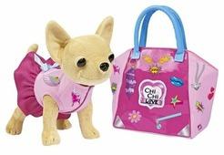 Мягкая игрушка Simba Chi chi love Чихуахуа с сумкой и набором для декорирования 20 см