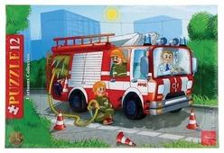 Рамка-вкладыш Hatber Cartoons Collection Пожарная машина (12ПЗ4_09342), 12 дет.