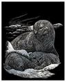 Гравюра Royal & Langnickel Тюлень с детенышами (SILF16) серебристая основа