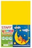 Цветной картон Волшебный STAFF, A4, 10 л., 10 цв.