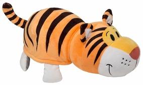 Мягкая игрушка 1 TOY Вывернушка Тигр-Слон 20 см