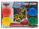 Масса для лепки MultiArt Disney Тачки 4 цвета с цифрами (4086-CR)