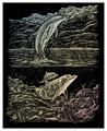 Гравюра Royal & Langnickel Дельфин (HOLO18) цветная основа с голографическим эффектом