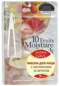 Japan Gals маска с экстрактами 10 фруктов увлажняющая