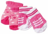 Zapf Creation Носки для куклы Baby Born 819517, 2 пары