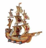 3D-пазл Zilipoo 3D Пиратский корабль (H-100), 79 дет.