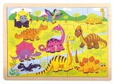 Рамка-вкладыш Bino Динозавры (88079), 20 дет.