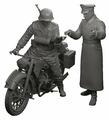 Сборная модель ZVEZDA Немецкий тяжелый мотоцикл Р-12 с водителем и офицером (3632) 1:35