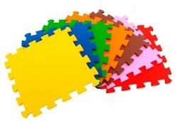 Коврик-пазл ЭкоПолимеры Разноцветный пол 6 кв.м