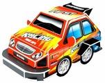 3D-пазл Pilotage 3D Машина S красная (RC39888), 10 дет.