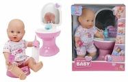 Интерактивная кукла Simba New born с горшком и умывальником 30 см 5036467