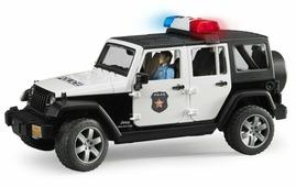 Машины Bruder Внедорожник Jeep Wrangler Unlimited Rubicon Полиция с фигуркой 02-526
